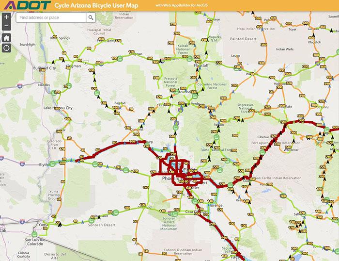 Arizona Bicycle Interactive Map